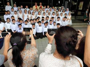 61 students of St Joseph's Private School – Primary receive their First Holy Communion