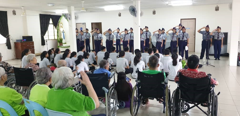 Old and Young Together: A Visit to the Home of Peace by F4SP and the Scouts of St Joseph's Private School