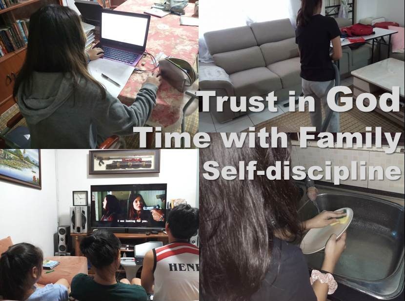 Trust in God, Time with Family and Self-discipline – a reflection on time spent in the home during MCO