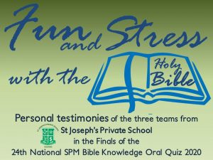 Fun and Stress with the Bible
