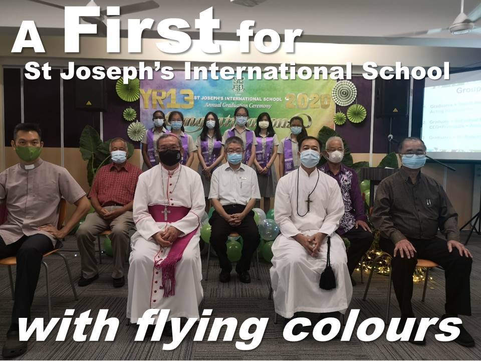 A First for ST JOSEPH'S INTERNATIONAL SCHOOL in Kuching with flying colours