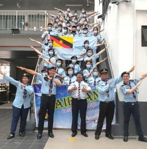 Air Scouts fly with their wings