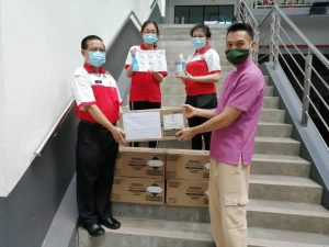 Donation of Hand Sanitisers from MRC Kuching District