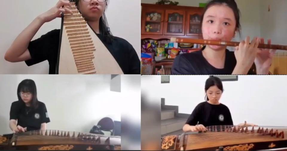 Chinese Music Club plays the school rally
