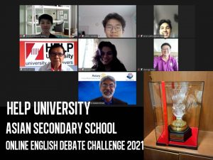St Joseph's Private School is the winner of HELP University's Asian Secondary School Online English Debate Challenge 2021
